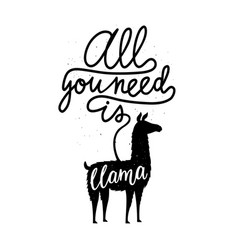 With farm animal silhouette and calligraphy text vector