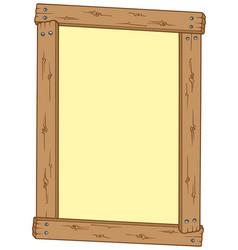 Wooden frame vector