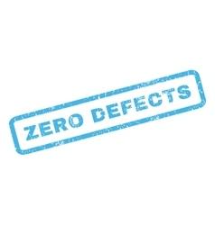 Zero Defects Rubber Stamp vector