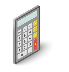 calculator icon isometric style vector image