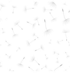 dandelion seeds seamless background vector image