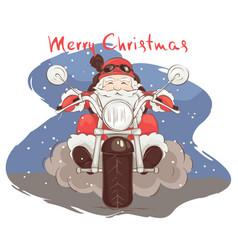 santa biker vector image