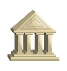 Bank building classic isolated icon vector image vector image