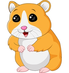 Cute hamster posing isolated on white background vector image vector image