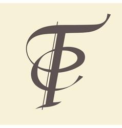 letter T vector image