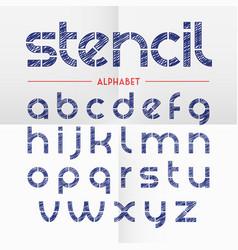 pen scribbled stencil alphabet letters vector image vector image
