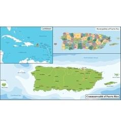 Puerto Rico map vector image vector image
