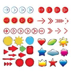 Arrows sign set vector image vector image
