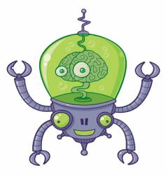 brainbot robot with brain vector image vector image