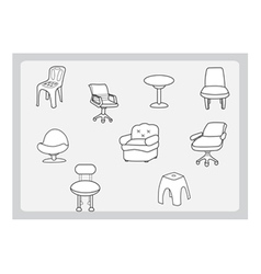 Collection of chair vector image