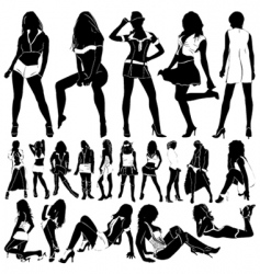 fashion sexy women vector image vector image