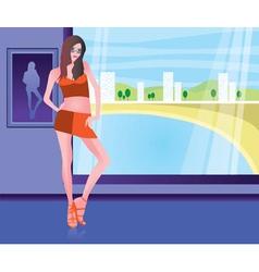 girl in the beach resort vector image vector image