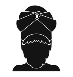 Indian man icon simple style vector