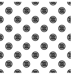 Stop fast food pattern vector
