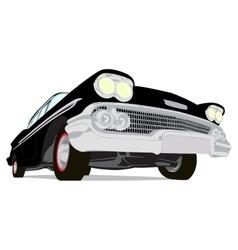 Vintage muscle cars cartoon sketch vector image vector image