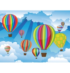 Air Balloons in the Sky6 vector image