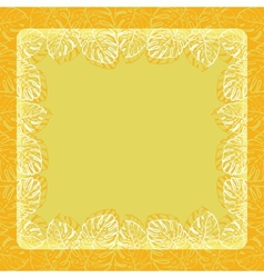Background frame of leaves vector image vector image
