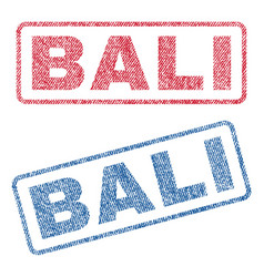 Bali textile stamps vector