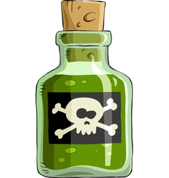 bottle of poison vector image