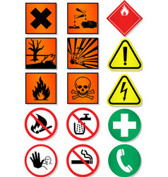 caution icons vector image