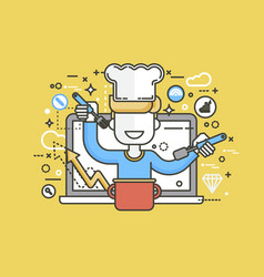 chef cook nutritionist vector image vector image