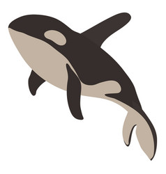 grampus icon cartoon style vector image
