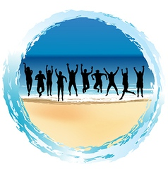 Group of happy people vector image