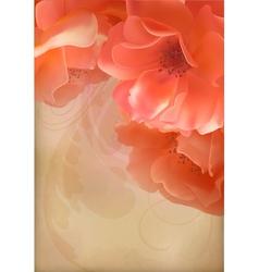 Rose Vintage Old Paper Textured Background vector image