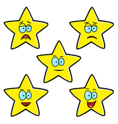 satisfaction level stars vector image