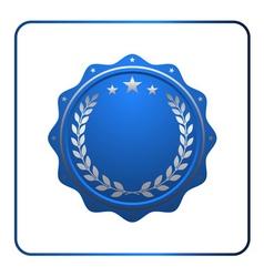 Seal award blue icon Blank medal vector image vector image