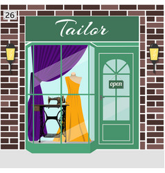 tailor shop building vector image