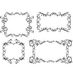 A set decorative vintage frames vector