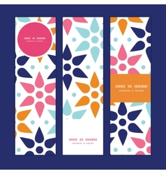 Abstract colorful stars vertical banners vector