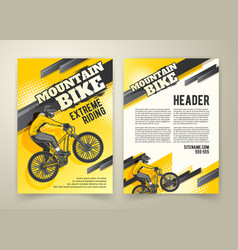 Abstract poster of motocross competitions vector