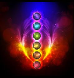 Aura and chakra meditation vector
