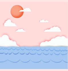 Backdrop is natural sea and sky paper vector