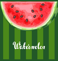 Background with ripe watermelon slice vector
