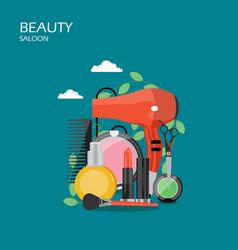 beauty saloon flat style design vector image