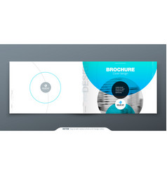 Blue annual report design horizontal cover vector