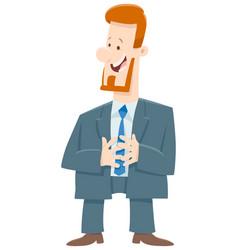 boss or businessman cartoon character vector image