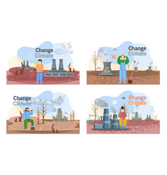 Change climate planet earth is suffers from human vector