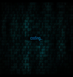 Coding abstract background matrix with binary vector
