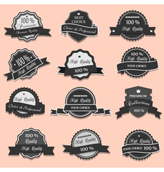 collection premium quality labels vector image