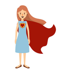 Colorful image caricature full body super hero vector
