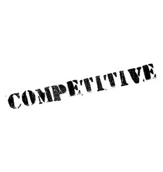 competitive rubber stamp vector image