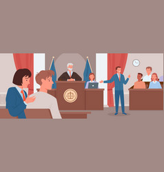 Court judgment law justice concept advocate vector