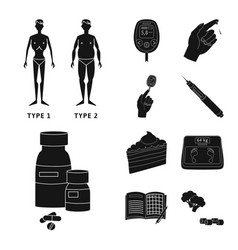Design of healthcare and medicine logo set vector