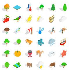 Elephant icons set isometric style vector