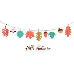 Fall autumn season background vector
