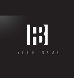 Fb letter logo with black and white negative vector